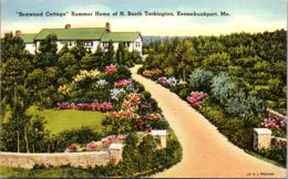 "Maine Kennebunkport ""Seawood Cottage"" Summer Home Of N Booth Tarkington 1962 - Kennebunkport"