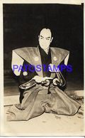 134775 JAPAN COSTUMES MAN SAMURAI POSTAL POSTCARD - Giappone