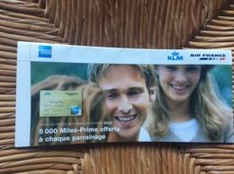 PUBLICITE DÉPLIANT  AIR FRANCE KLM  Carte Air France KLM-American Express Gold - Advertisements