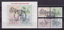 88Q * BERLIN * 5 FEINE WERTE 1 BLOCK 2 ZOO * MICHEL 4,90 * GESTEMPELT ** !! - Blocks & Kleinbögen