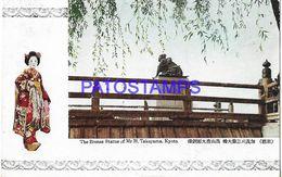 134795 JAPAN KYOTO THE BRONZE STATUE OF MR H. TAKAYAMA POSTAL POSTCARD - Giappone