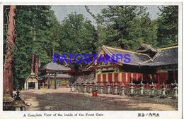 134812 JAPAN A COMPLETE VIEW OF THE INSIDDE OF THE FRONT GATE POSTAL POSTCARD - Giappone