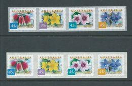 Australia 1999 Coastal Flowers Peel & Stick Strips Of 4 Both Pemara & SNP Printings MNH - Mint Stamps