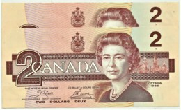 CANADA - 2 X 2 Dollars Consecutive Numbers - 1986 - Pick: 94.a - Unc. - Sign. Crow / Bouey - Canada