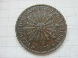 Uruguay , 1 Centesimo 1869 H - Uruguay
