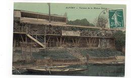 94 - ALFORT - Terrasse De La Maison Delion - Pancarte : Appelez Le Passeur - 1910 (H12) - Maisons Alfort
