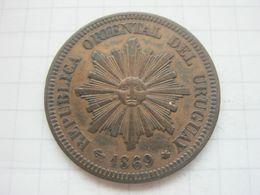 Uruguay , 2 Centesimos 1869 A - Uruguay