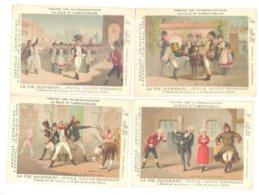 JOURNAL LA VIE MODERNE - 4 CHROMOS Les 4 ACTES D'une PIECE Au THEATRE DES FOLIES DRAMATIQUES (9 X 12 Cm) - Trade Cards