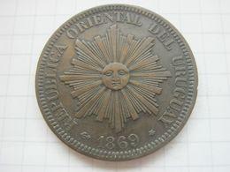 Uruguay , 4 Centesimos 1869 A - Uruguay