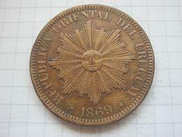 Uruguay , 4 Centesimos 1869 H - Uruguay