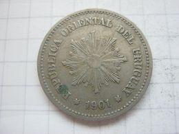 Uruguay , 5 Centesimos 1901 - Uruguay