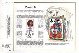 """"""" EGALITE / REVOLUTION FRANCAISE """" Sur Feuillet CEF De 1989 N° YT 2574. Parfait état.FDC - Révolution Française"""
