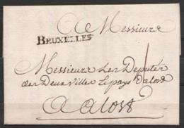 """L. Datée 20 Juin 1748 De BRUXELLES Pour Députés Du Pays D'ALOST - Port 1 Sol - Griffe """"BRUXELLES"""" - 1714-1794 (Oostenrijkse Nederlanden)"""
