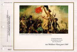 """"""" BICENTENAIRE DE LA REVOLUTION FRANCAISE / LA LIBERTE GUIDANT LE PEUPLE """" Sur Feuillet CEF. Spécial. Parfait état - Révolution Française"""