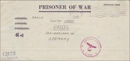 Kriegesgefangenensendung Von New York 1944 Nach Kassel Mit Zensur - Allemagne