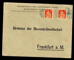 Bankbrief Basel Nach Frankfurt 1914, PERFIN Br - Schweiz