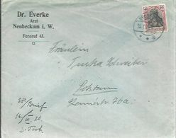 LETTER 1920  NEUBECKUM - Brieven En Documenten