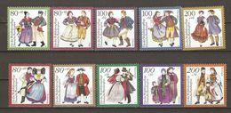 Allemagne Fédérale 1993/4 - Costumes Régionaux - 2 Séries Complètes MNH 1528/32 & 1589/93 - Lots & Kiloware (mixtures) - Max. 999 Stamps