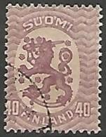 FINLANDE / REPUBLIQUE N° 74 OBLITERE - Finland