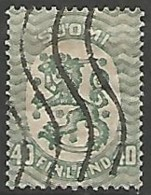 FINLANDE / REPUBLIQUE N° 112 OBLITERE Filigrane Croix Gammées - Finland