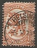 FINLANDE / REPUBLIQUE N° 115 OBLITERE Filigrane Croix Gammées - Finland