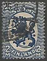 FINLANDE / REPUBLIQUE N° 117 OBLITERE Filigrane Croix Gammées - Finland