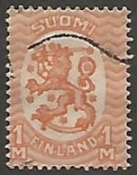 FINLANDE / REPUBLIQUE N° 127 OBLITERE Filigrane Cors De Chasse - Finland