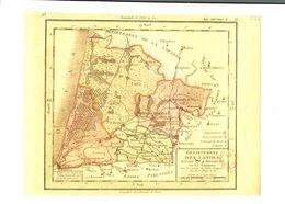 Landes 1ere Carte Des Departements Origine 1792 Reproduction   CPM Ou CPSM - Unclassified