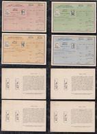 Argentina 1954 ABONO A CASILLA PO Box Rental Card Stationery 20P + 30P + 40P +60P ** MNH - Ganzsachen