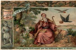 Chromo LIEBIG Le Prophète Elie Nourri Par Les Corbeaux Dans Le Désert - Liebig