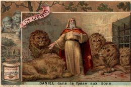 Chromo LIEBIG  DANIEL DANS LA FOSSE AUX LIONS - Liebig