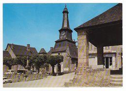 19 Treignac N°5 Le Centre Chapellerie Mercerie Renault 4L Camionnette Peugeot 404 VOIR DOS En 1977 - Treignac