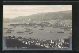 AK Laxevaag, Kriegsflotte In Der Hafenbucht, 1918 - Norvège