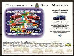 """(Fb).San Marino.1997.""""Volkswagen"""".Foglietto Nuovo,integro (110-20) - Blocchi & Foglietti"""