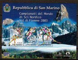 """(Fb).San Marino.2003.""""Sci Nordico"""".Foglietto Nuovo,integro (106-20) - Blocchi & Foglietti"""
