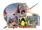 Vlaminck : Exposition 2008 Carte Annonce Chartres Paraguay Monaco (par 5 Exemplaires) - Postzegels (afbeeldingen)