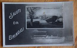 Saluti Da Brindisi - Panorama Da S. Apollinare - Pli Côté Droit - (n°17823) - Brindisi
