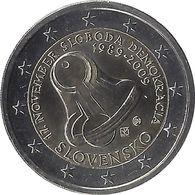 2E207 - SLOVAQUIE - 2 Euros Commémorative - La Démocratie 2009 - Slovaquie