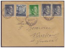 GG WKII (007480) Brief MIF, Bauwerke,Hitler, Gelaufen Am 19.8.1943 - Occupation 1938-45