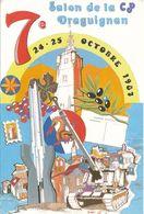 CPM GF -83 -Draguignan Salon De La Carte Postale De Draguignan En 1987  Dessin De Marc Lenzi-Envoi Gratuit - Collector Fairs & Bourses