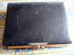 GRAND ALBUM PHOTO ANCIEN  19 Eme VIDE CUIR NOIR - Boxes