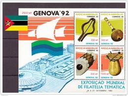 Mozambique 1992 - MNH** - Expositions Philatéliques - Musique - Michel Nr. Bloc 27 (moz126) - Mozambique
