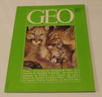 GEO N°32 (10/1981) : Pumas, Un Roi Pour Les Amériques - Geography