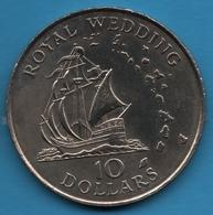 "EAST CARIBBEAN TERRITORIES 10 DOLLARS 1981 KM# 9 Royal Wedding BATEAU  ""Golden Hind"" - Ostkaribischer Staaten"