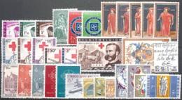 [846626]TB//*/Mh-c:40e-Belgique 1959 - Année Complète */mh Propre, Croix-Rouge, Europa-Cept, Avions, Poissons - Belgique