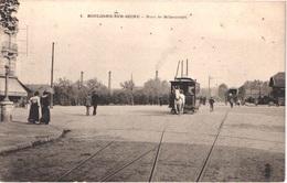 FR92 BOULOGNE SUR SEINE - Pont De Billancourt - Hippomobile - Tramway Tracté Par Un Cheval - Animée - Belle - Boulogne Billancourt
