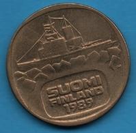 SUOMI FINLAND 5 MARKKAA 1989 KM# 57 Icebreaker Urho Bateau - Finland