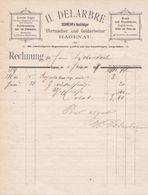 HAGENAU H DELARBRE SCHWEHR NACHFOLGER UHRMACHER UND GOLDARBEITER GROSSES LAGER TASCHENUHREN BESTECKE ANNEE 1898 - France