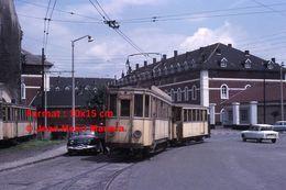 ReproductionPhotographie D'un Tramway Ligne Hergnies Circulant à Valenciennes En 1966 - Reproductions