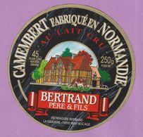 étiquette Fromage °_ Camembert Bertrand Père Et Fils-Beny Bocage- 11 Cm ° NEUVE - Cheese